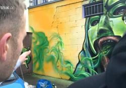 Riesengroßes und wunderschönes Marsimoto Graffiti in Halle