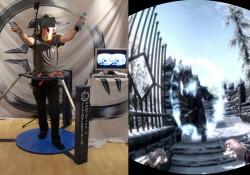 Skyrim Virtual Reality mit Wii Remote, Oculus Rift und Laufkäfig (Virtualizer)