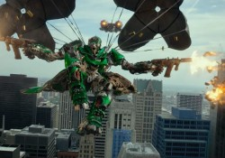Optimus Prime reitet auf einem T-Rex Dinobot